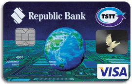 Republic Bank Tstt International Visa Credit Card