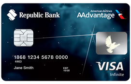Republic Bank Aadvantage Visa Infinite Credit Card